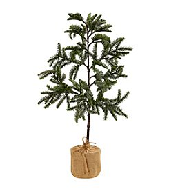 Nearly Natural® Iced Pine Tree with Burlap Base