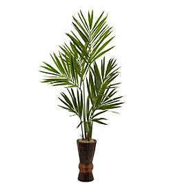 Nearly Natural® Kentia Tree with Bamboo Planter