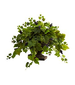 Nearly Natural® Grape Leaf with Iron Colored Urn