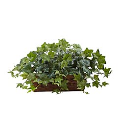 Nearly Natural® Puff Ivy with Ledge Basket
