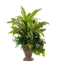 Nearly Natural® Mixed Yucca, Marginatum, Pothos and Bracken with Planter
