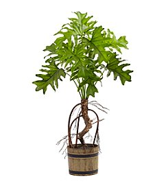 Nearly Natural® Split Philo Plant with Bucket Planter