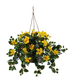 Nearly Natural® Hibiscus Hanging Basket