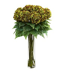 Nearly Natural® Hydrangea with Cylinder Silk Flower Arrangement