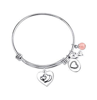 "Gratitude and Grace Silvertone ""Always Sisters Always There"" Charm Bracelet"