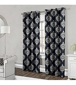 Exclusive Home Damask Grommet Window Curtain