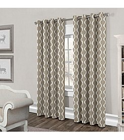 Exclusive Home Trellis Grommet Window Curtain