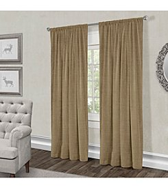 Exclusive Home Burlap Rod Pocket Window Curtain