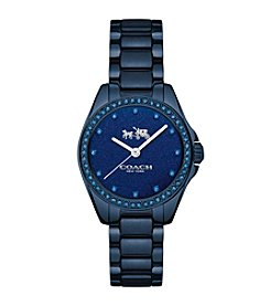 COACH TRISTEN 28MM NAVY COLOR DIAL IP BRACELET WATCH