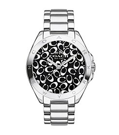 COACH TRISTEN 36MM SIGNATURE STAINLESS STEEL BRACELET WATCH