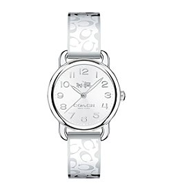 COACH DELANCEY ENAMEL SIGNATURE C STAINLESS STEEL BANGLE WATCH