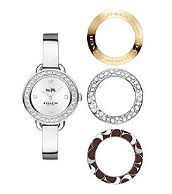 COACH WOMEN'S 28mm DELANCEY STAINLESS STEEL BANGLE WATCH SET