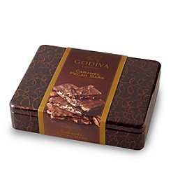 Godiva® Pecan Caramel Bark Tin