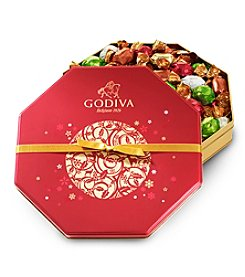 Godiva® Seasonal Wrapped Chocolates And Truffles Tin