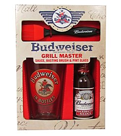 Budweiser BBQ Sauce & Pint Glass Set