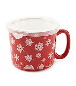 Sabatier® Snowflake Ceramic Soup Mug