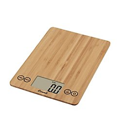 Escali Glass Bamboo Digital Food Scale