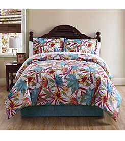 LivingQuarters Tropical 4-pc. Comforter Set