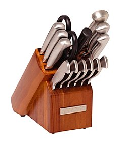 Sabatier® 15-pc. Stainless Steel Cutlery Set with Acacia Block