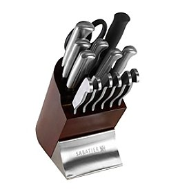 Sabatier® 15-pc. Stainless Steel Cutlery Set with Cherry Block