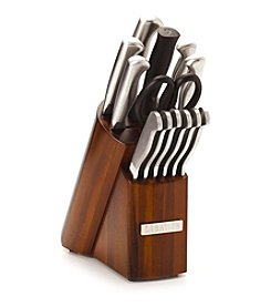 Sabatier® 14-pc. Forged Stainless Steel with Acacia Block