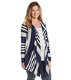 Three Seasons Maternity® Striped Layered Look Cardigan