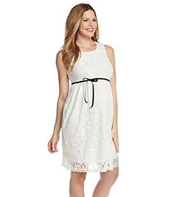 Three Seasons Maternity™ Allover Lace Dress