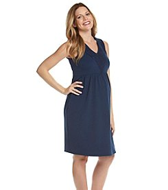 Three Seasons Maternity® Crochet Trim Solid Knit Dress