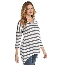 Three Seasons Maternity® Stripe Sharkbite Tunic