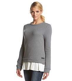 Calvin Klein Performance Pullover With Woven Hem