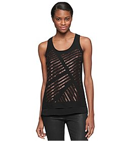 Calvin Klein Jeans® Studded Double Layer Tank