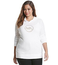 MICHAEL Michael Kors® Plus Size Hooded Logo Top