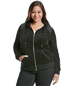 MICHAEL Michael Kors® Plus Size Embellished Velour Hoodie