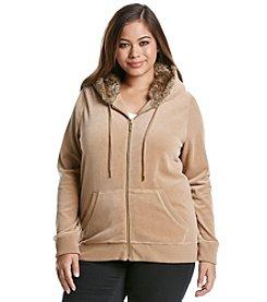MICHAEL Michael Kors® Plus Size Fur Velour Hoodie