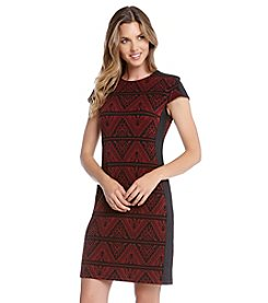 Karen Kane® Jacquard Contrast Dress