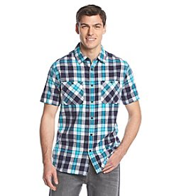 Ruff Hewn Men's Short Sleeve Gauze Plaid Button Down