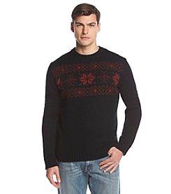 Weatherproof® Vintage Men's Snowflake Crewneck Jacquard Sweater