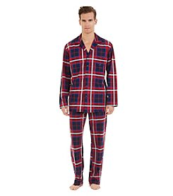 Nautica® Men's Woven Plaid Camp Shirt Sleepwear