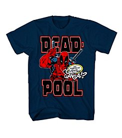 Mad Engine Men's Short Sleeve Deadpool Cover Graphic Tee