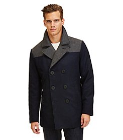 Nautica® Men's Colorblock Wool Peacoat
