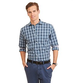 Nautica Men's Slim Fit Wrinkle Resistant Marlin Plaid Shirt