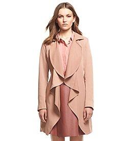 Robert Rodriguez® Drape Front Raincoat