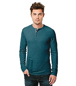 Buffalo by David Bitton Men's Long Sleeve Henley Tee