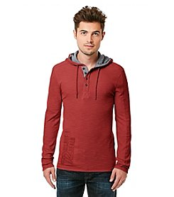 Buffalo by David Bitton Men's Long Sleeve Waffle Hoodie Henley