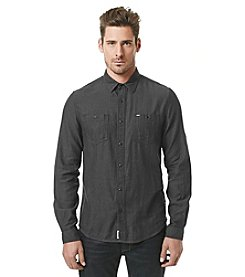 Buffalo by David Bitton Men's Long Sleeve Herringbone Button Down