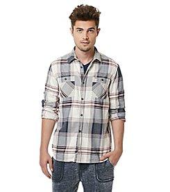 Buffalo by David Bitton Men's Long Sleeve Plaid Button Down Shirt