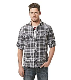 Buffalo by David Bitton Men's Long Sleeve Check Plaid Button Down
