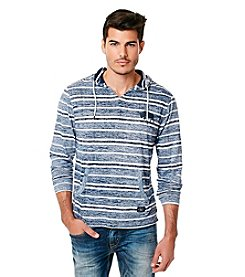 Buffalo by David Bitton Men's Long Sleeve Striped Hoodie Tee