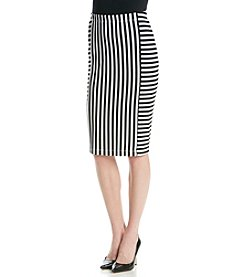 AGB® Stripe Pencil Skirt