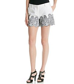 MICHAEL Michael Kors® Embroidered Mini Shorts
